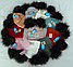 Шапка вязаная для девочки с помпонами 6089 кашемир р 3-12 лет, разные цвета, фото 3