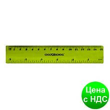 Линейка 15 см пластиковая, цветная прозрачная CF81334