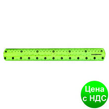 """Линейка 30 см PVC, гибкая, цветная прозрачная, """"FLEX"""" CF81335"""