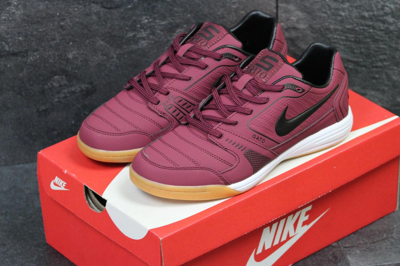 5555c7cf7a2e6 Кроссовки мужские Nike Gato осенние спортивные из кожи, легкие для бега 44  размер (бордовые