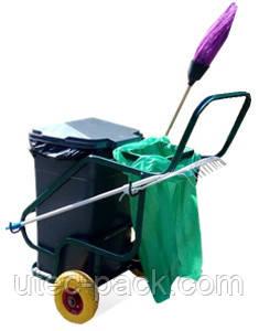 Профессиональные тележки для уборки территорий, фото 9