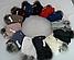 Комплект женский шапка с бубоном и хомут зимний, разные цвета, фото 5