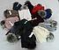 Комплект женский шапка с бубоном и хомут зимний, разные цвета, фото 6