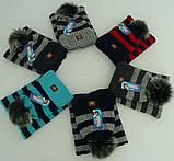Комплект для мальчика шапка и баф зимний , разные цвета, фото 3
