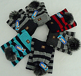 Комплект для мальчика шапка и баф зимний , разные цвета, фото 4