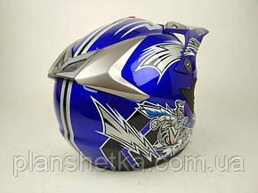 Шлем для мотоцикла Hel-Met 117 кроссовый синий, фото 2