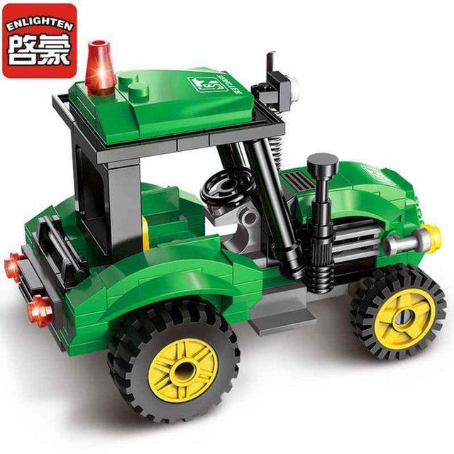 Конструктор BRICK 1102 трактор, 112 елементів, в коробці, 22-14-4,5 см.
