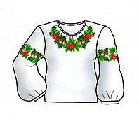 Заготовка для вышивки женской рубашки бисером №10 или нитками (B-S017)