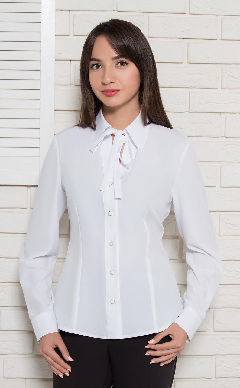 Блуза Modna KAZKA  Агнеса белая 9869-4