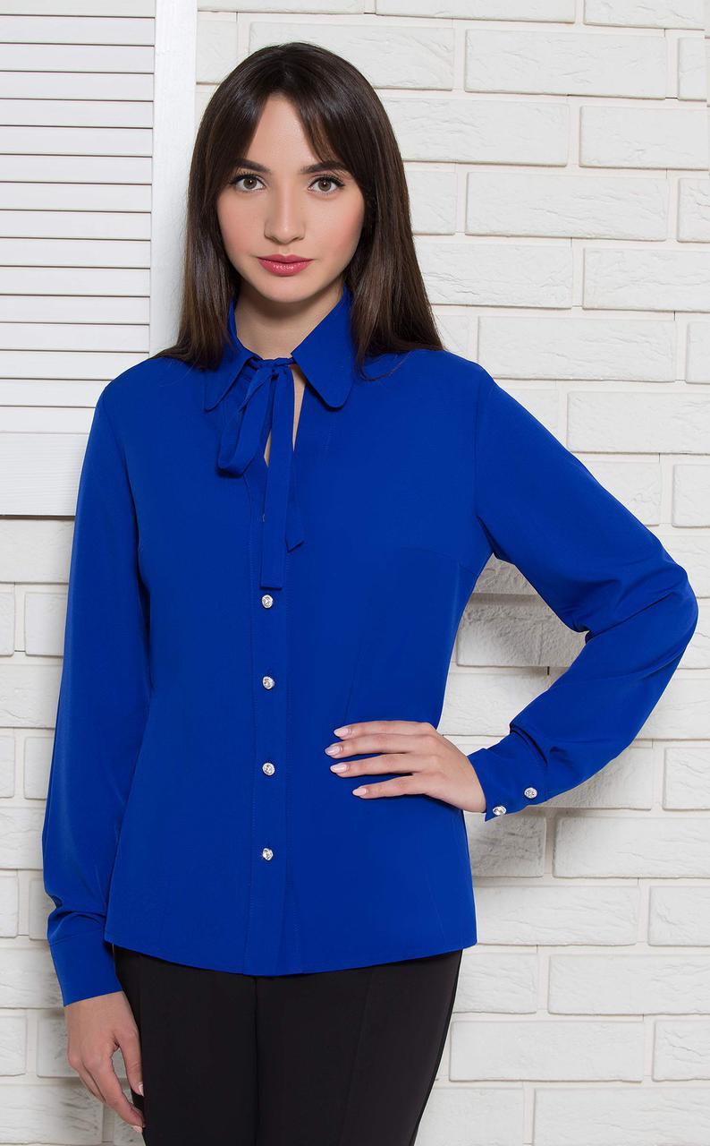 Блуза Modna KAZKA  Агнеса синяя 9869-1