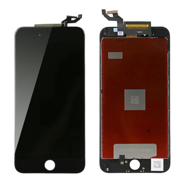 Дисплей iPhone 6S plus модуль в сборе с тачскрином черный, оригинал (переклеенное стекло)
