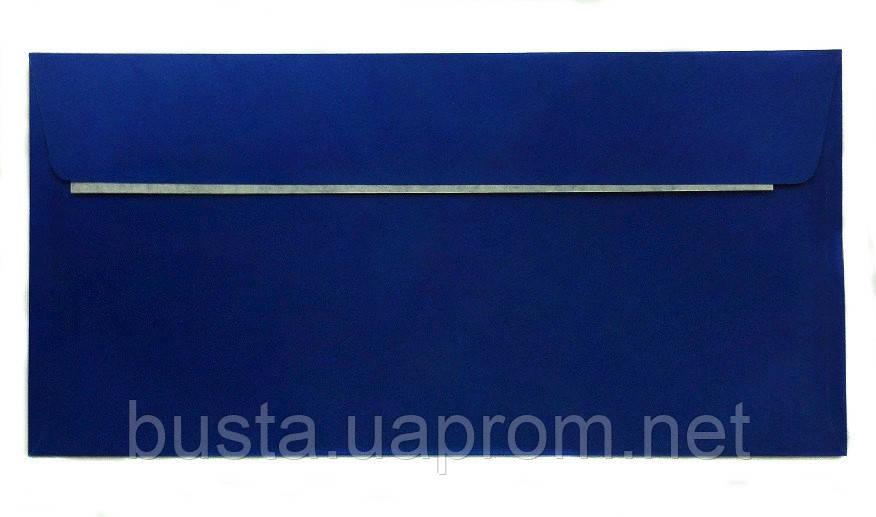 Конверт синий Е65 с клейкой лентой