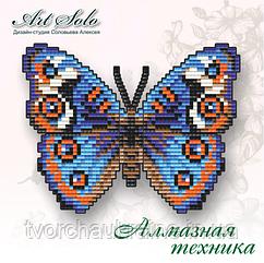 Бабочка-магнит «АНЮТИНЫ ГЛАЗКИ (JUNONIA ORITHYA)» БАТ02