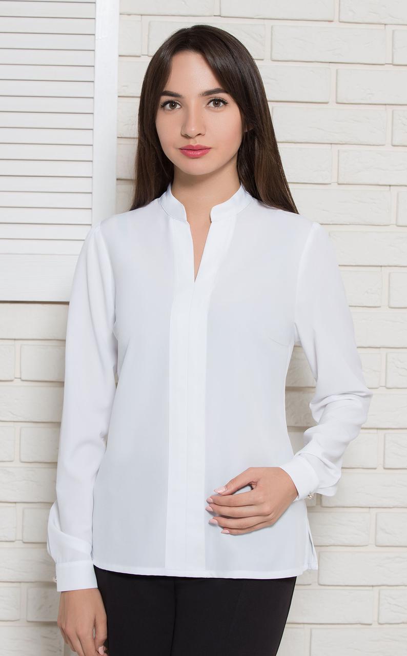 Блуза Modna KAZKA  Аврил белая 9821-1