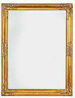 Зеркало настенное с деревянной рамкой 70х90 см золото