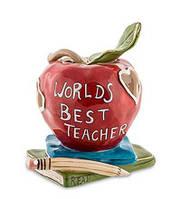 Порцеляновий свічник Краще в світі вчителю BS-205