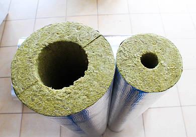 Изоляция трубопроводов цилиндрами, кашированными фольгой