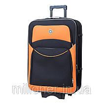 Комплект чемодан + кейс Bonro Style (большой) черно-оранжевый, фото 3