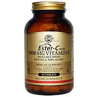 Эстер С плюс, Ester-C Plus, Solgar, 1000 мг, 90 таблеток