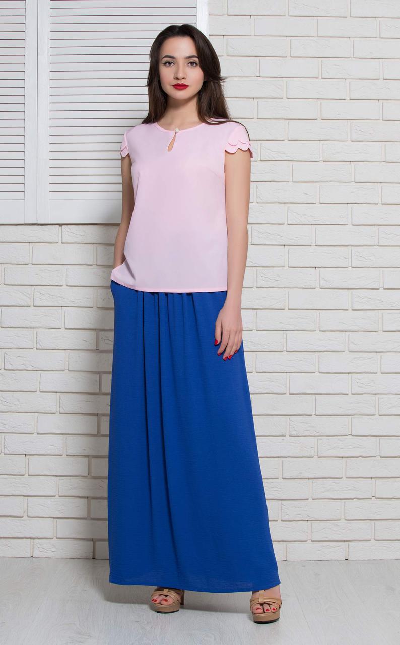 Блуза летняя без рукава розовая BerdToni