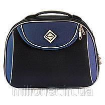 Комплект чемодан + кейс Bonro Style (большой) черно-т. синий, фото 2