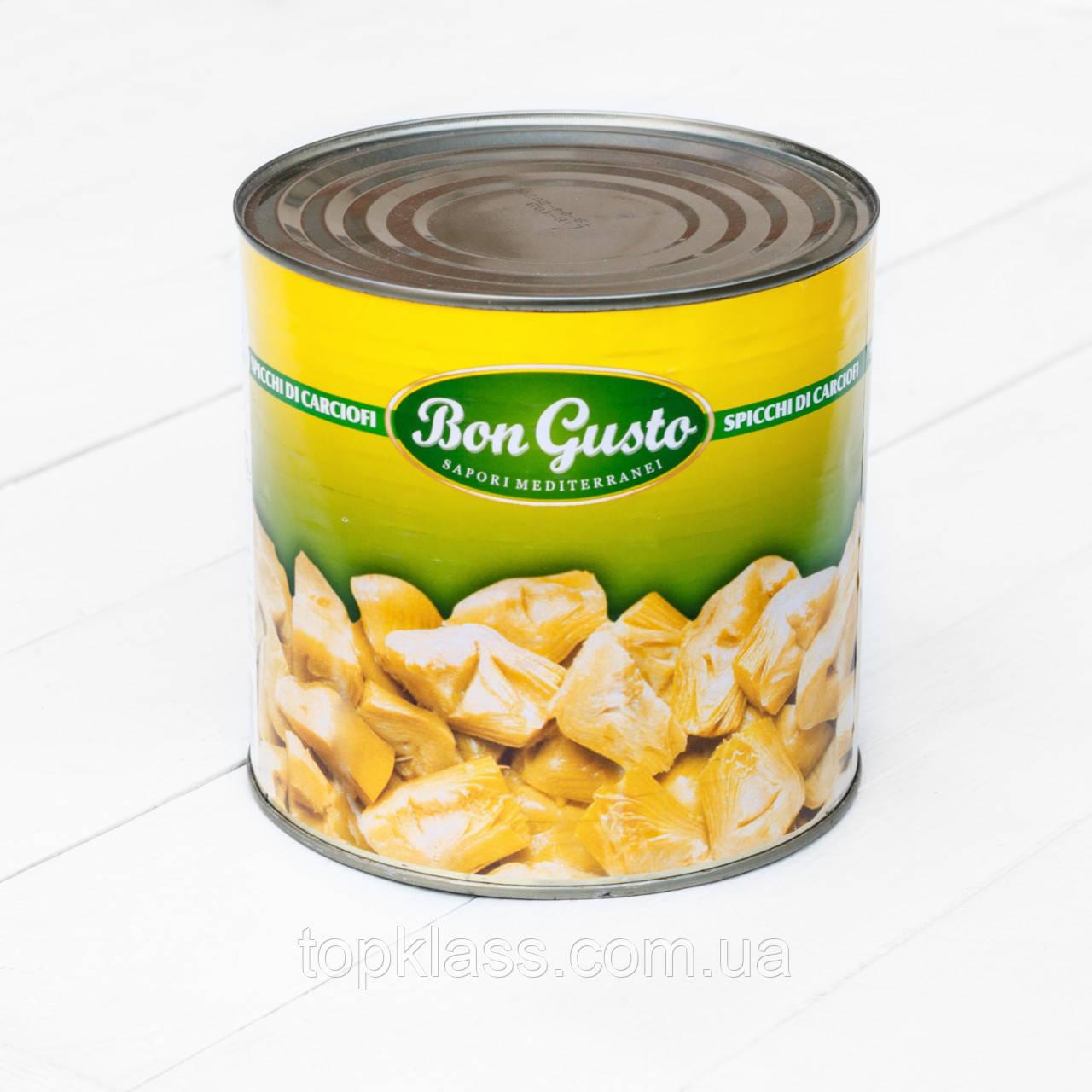 Артишоки четвертинки консервовані Bon Gusto, Італія. Ж/б 2550г/1350г