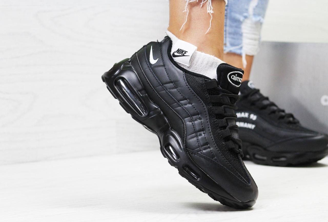ebcfa834 Кроссовки женские Nike Air Max 95 классические молодежные весна-осень на  каждый день (черные