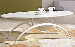 Журнальный стол A1002-1, Exm стекло белый глянец,ножки белые, фото 2