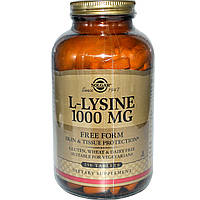 L- лизин, Solgar, 1000 мг, 250 таблеток