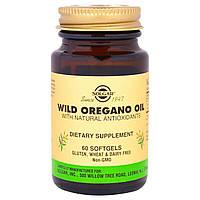 Масло орегано (Wild Oregano Oil), Solgar, 60 капсул