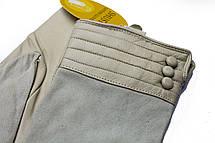 Женские комбинированные перчатки кожа+замша 797s3 Большие, фото 3
