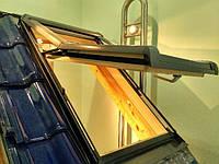 Вікно мансардне Designo зі шторкою акційне WDF R75 H N WD AL 07/11