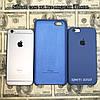 Силиконовый чехол Apple Silicone Case iPhone 6, 6s; 7, 7 plus; 8, 8 plus; (Azur)