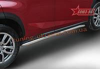 Пороги труба d60 Союз 96 на Lexus NX 2014 (F-Sport) (эксклюзив TMR)