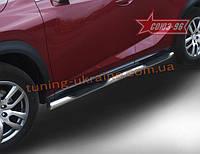 Пороги с проступями d76 Союз 96 на Lexus NX 2014 (F-Sport) (эксклюзив TMR)