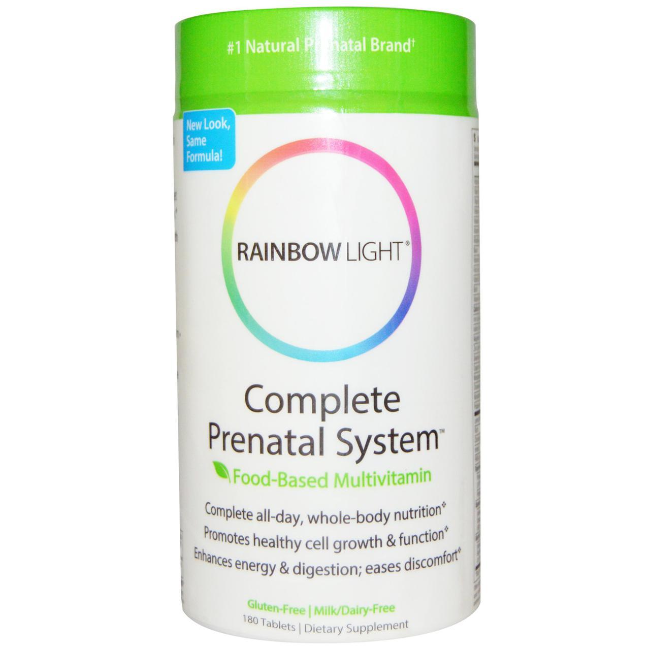 Витамины для беременных, Rainbow Light, 180 табл.