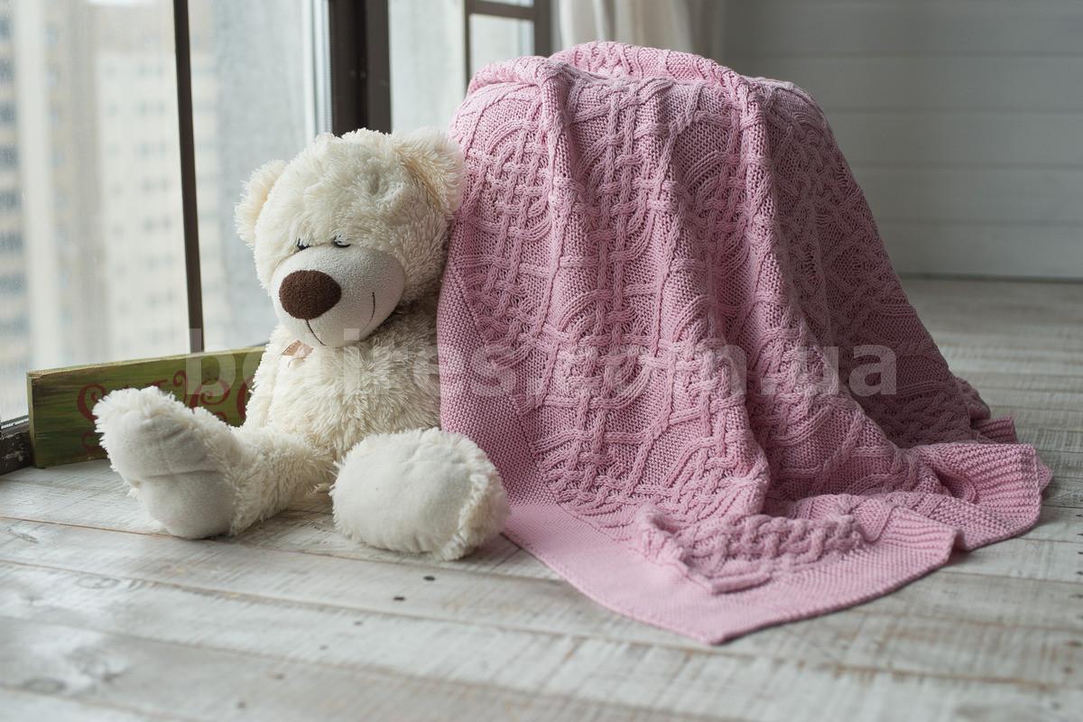 Плед дитячий в'язаний 90x90 BETIRES LYON PINK (100% бавовна) рожевий