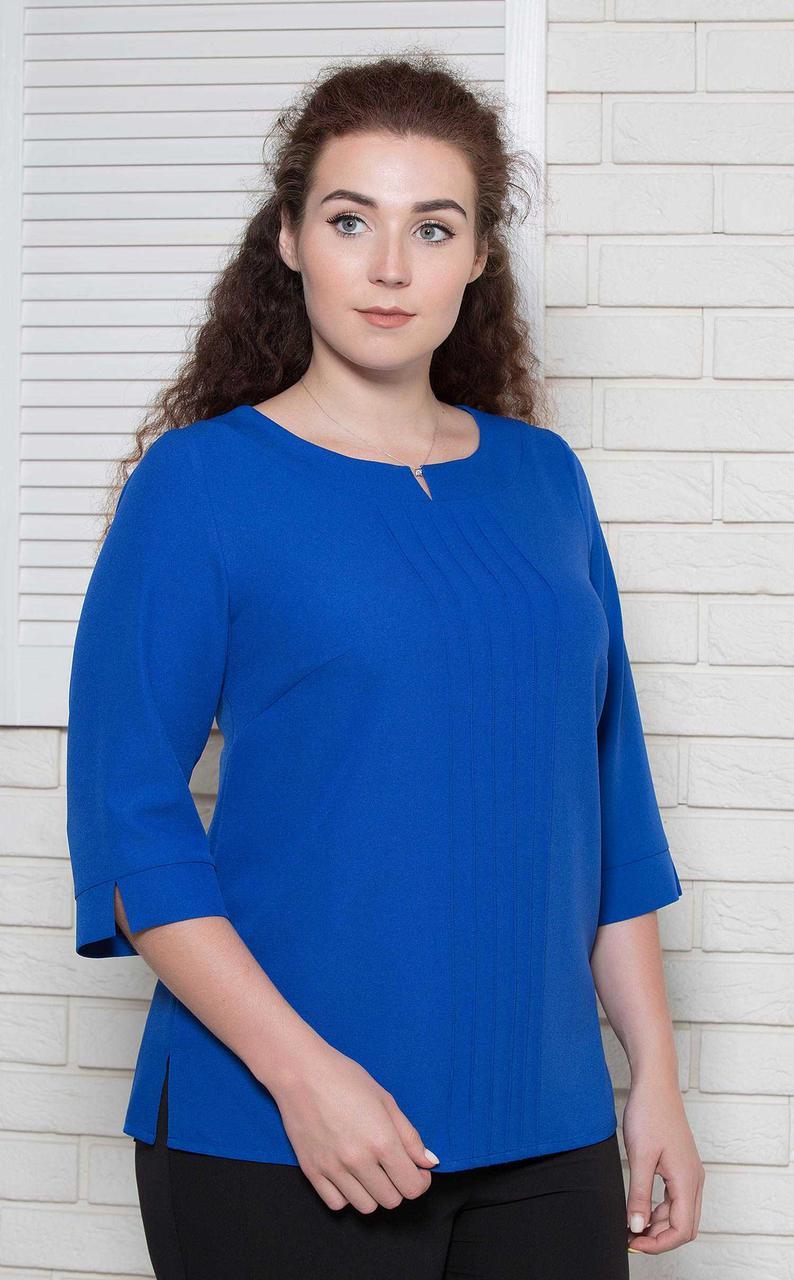 Жіноча блуза офісна великого розміру до штанів електрик BerdToni MKBT9711-5