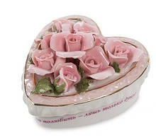"""Порцеляновий скринька з трояндами """"Вічна любов"""" (Pavone) CMS - 45/ 1"""