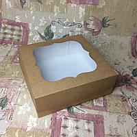 Коробка / 250х250х90 мм / Крафт / окно-обычн / для торт, фото 1