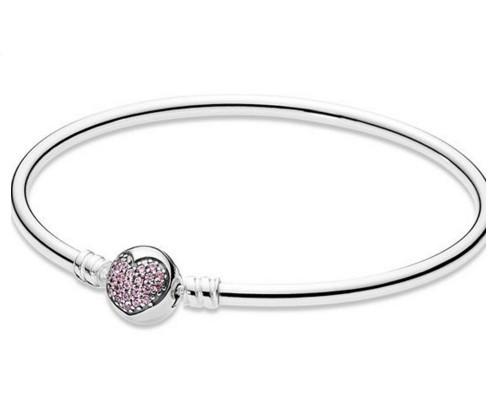 Пандора бангл браслет с застёжкой «сердце»
