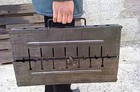 Раскладной мангал чемодан на 10 шампуров 2мм, фото 3