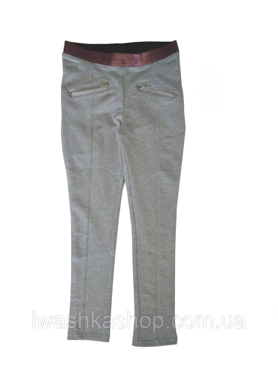 Стильные облегающие брюки на девочку 5 - 6 лет, размер 116, Kiki&Koko
