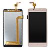 Оригинальный дисплей (модуль) + тачскрин (сенсор) для S-TELL M511 (золотой цвет)