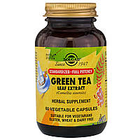 Зеленый чай экстракт (Green Tea Leaf), Solgar, 60 капсул