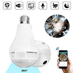 """Панорамная IP WiFi камера лампочка """"рыбий глаз"""" UKC H-302L White"""