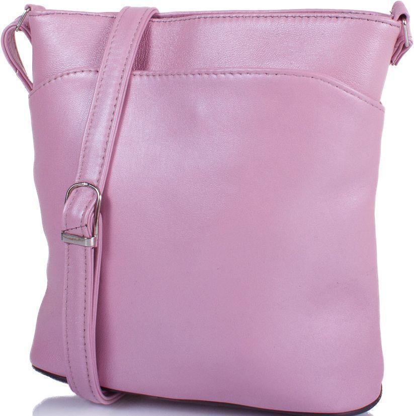 Шкіряна сумка-планшет жіноча TUNONA SK2418-13, рожевий