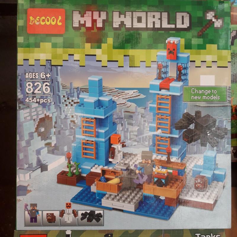 Конструктор (DECOOL) Lele Minecraft 33050 Ледяные шипы, 460(454) деталеи
