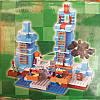 Конструктор (DECOOL) Lele Minecraft 33050 Ледяные шипы, 460(454) деталеи, фото 4