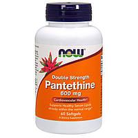 Пантетин, двойная сила, Pantethine, Now Foods, 600 мг, 60 капcул, фото 1